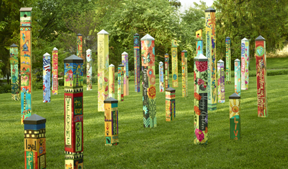 pole garden art makes a great gift for mom coastal style