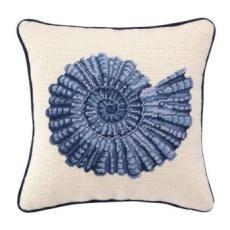 Spiral Seashell Needlepoint Pillow