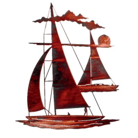 20 Inch Sailboat Metal Wall Art