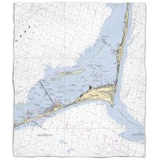 Island Girl Nc Cape Hatteras Nc Nautical Chart Fleece Throw Blanket