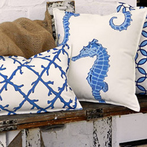 Coastal Decorative Cotton Canvas Pillows