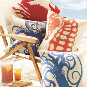 Nautical Pillows Beach Themed Pillows Coastal Decor Pillows