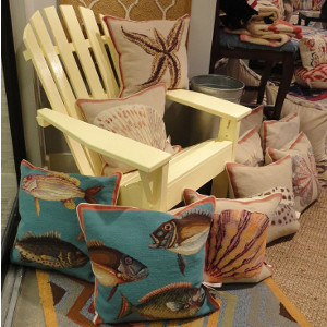 Beach Needlepoint Throw Pillows