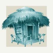 Tiki Hut Room Decor