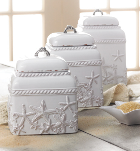 Beach Themed Kitchen Canister Set