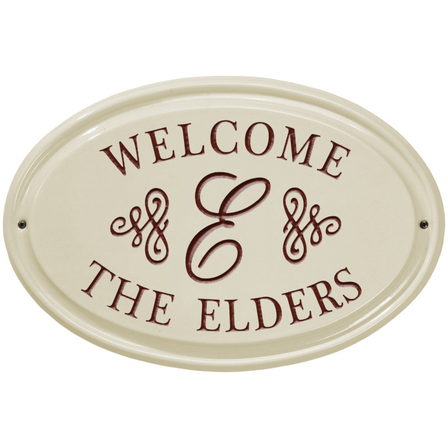 Personalized Beach House Plaques: Personalized Welcome Ceramic House Plaque