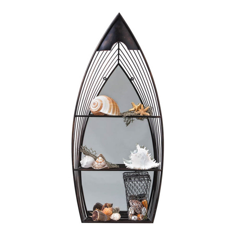 metal boat mirror with shelves. Black Bedroom Furniture Sets. Home Design Ideas