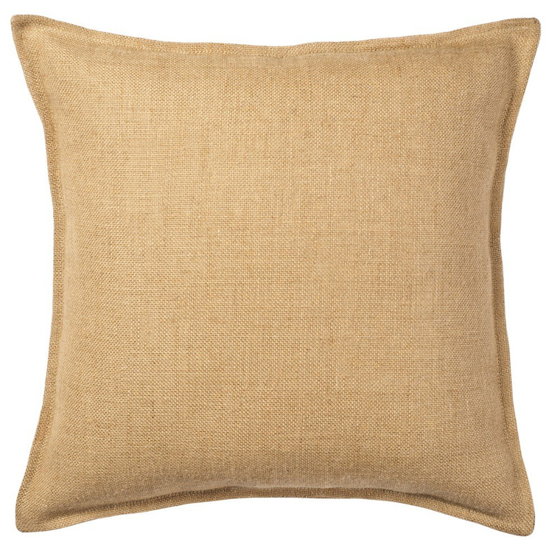 Natural Decorative Pillow : Natural Washed Burlap Pillow