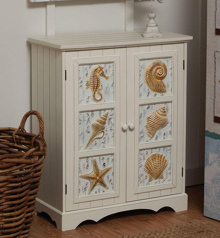 Seashell 2 door cabinet
