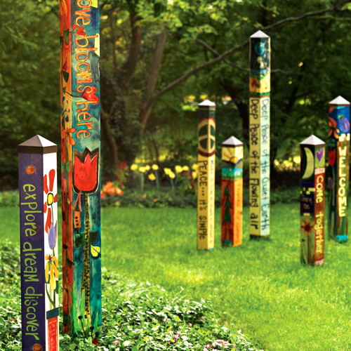 garden pole. 4\u0027 Bright Peace Outdoor Garden Pole