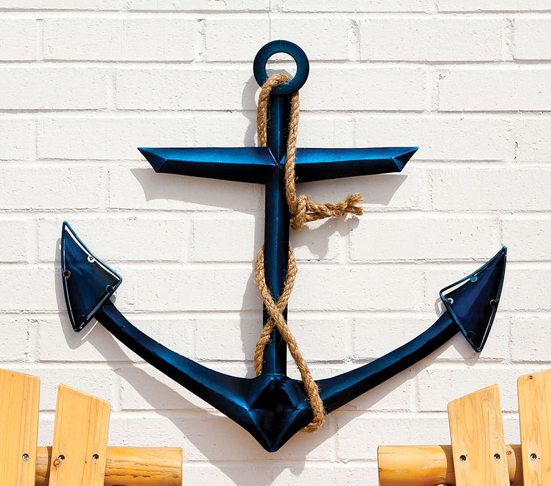 Anchor Wall Decor Metal : Glass metal wall decor anchor