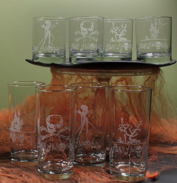 halloween glassware. Black Bedroom Furniture Sets. Home Design Ideas