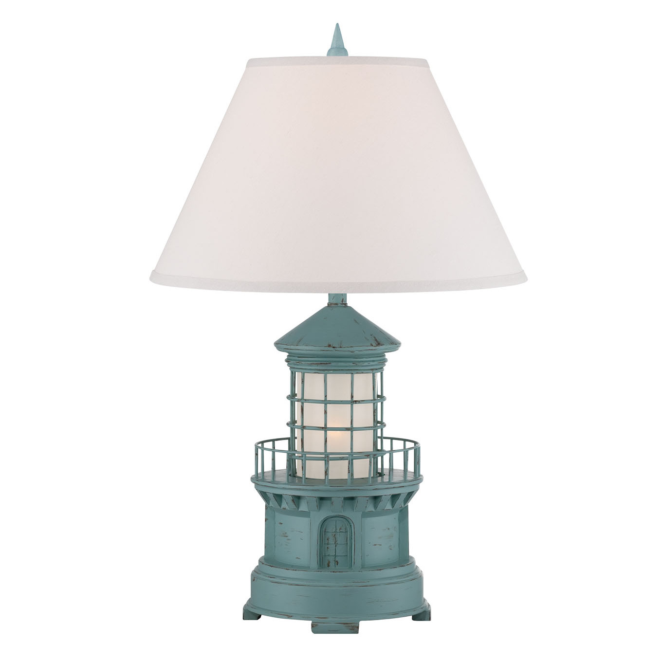 cottage lighthouse lamp 3 colors. Black Bedroom Furniture Sets. Home Design Ideas