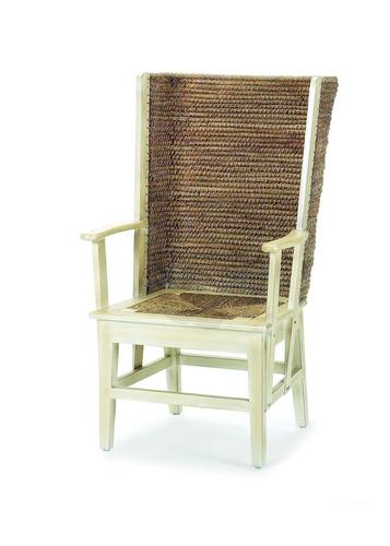 Orkney Chair / Mainly Baskets Orkney Chair With Woven Seat Deep Browness  Black Finish Antique White