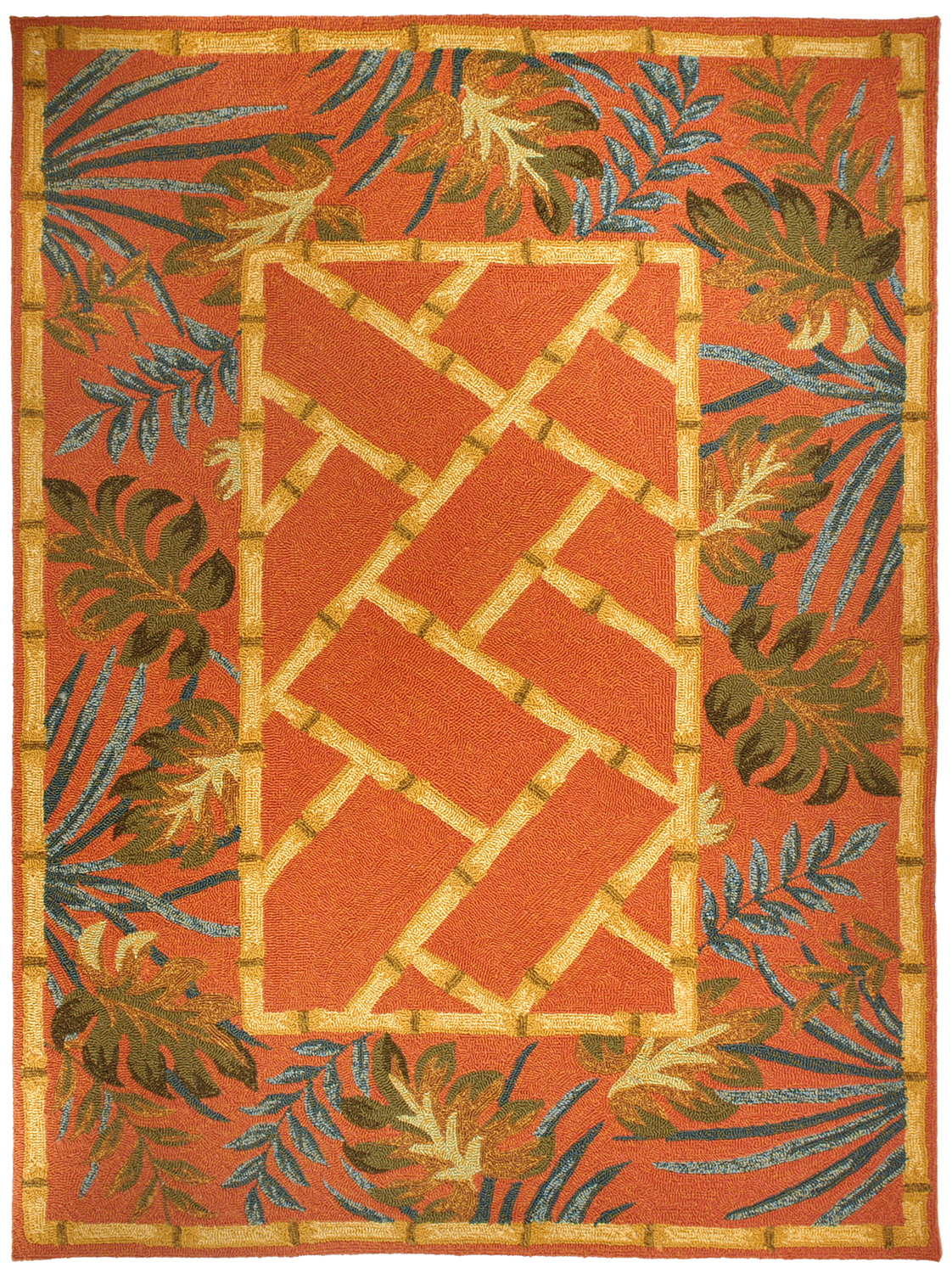 Tropical Palms Amp Bamboo Rug