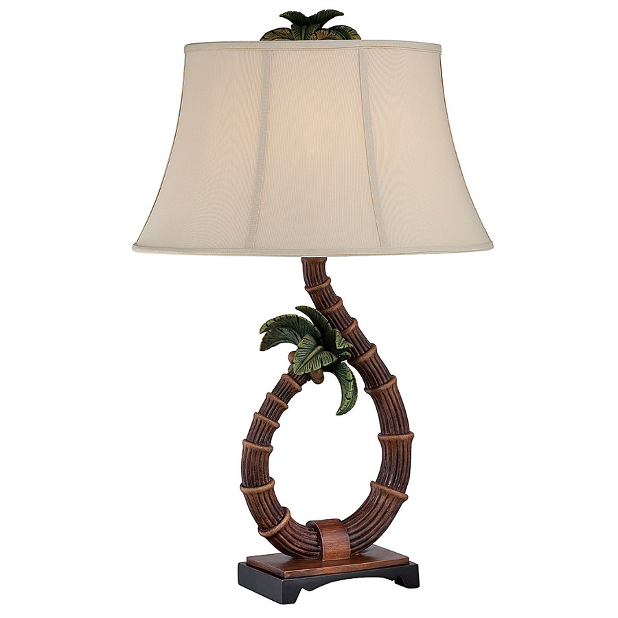 elegant palm tree table lamp. Black Bedroom Furniture Sets. Home Design Ideas