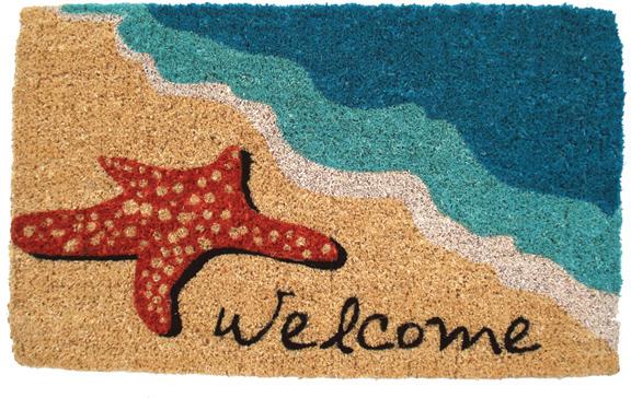 Starfish Welcome Coconut Fiber Doormat Jpg