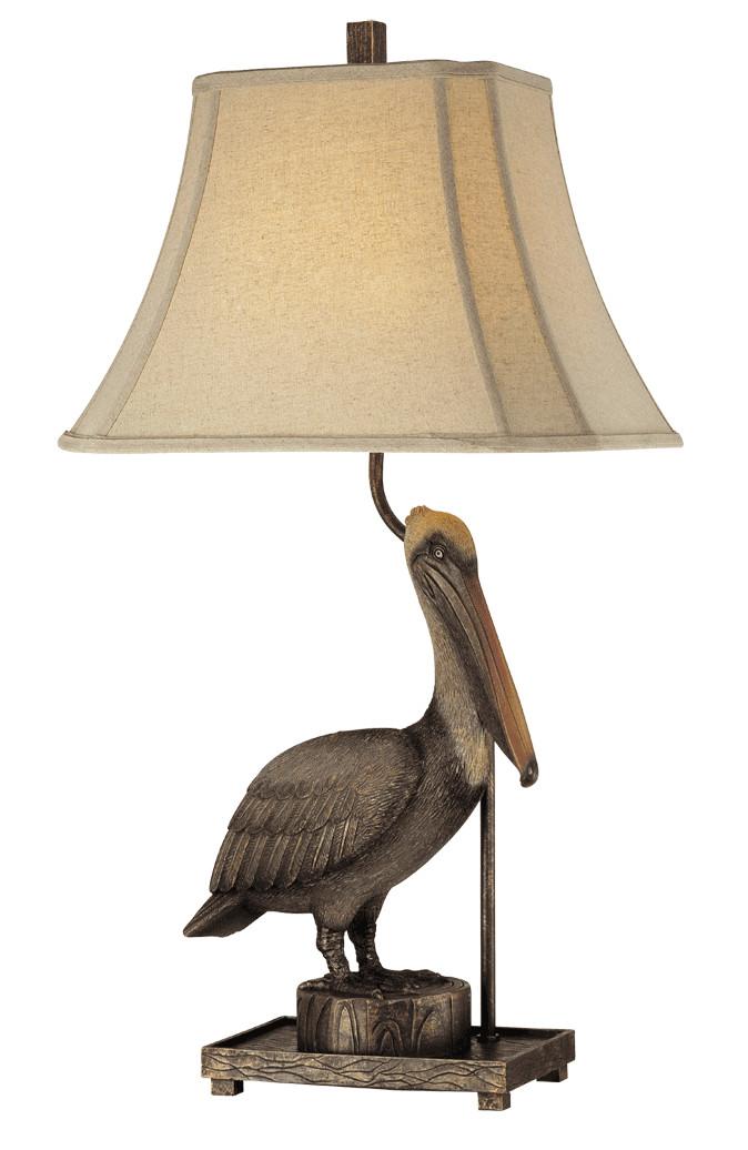 Antique Pelican Table Lamp