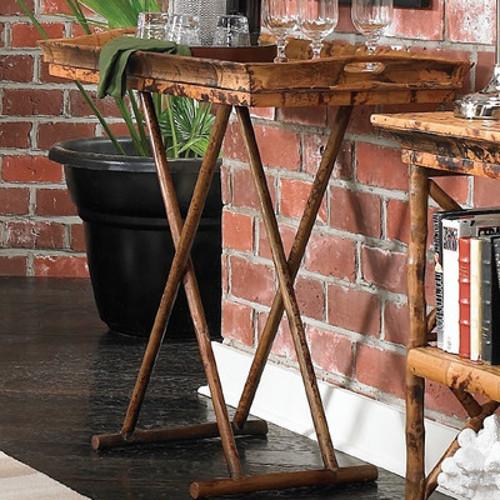 coastal bamboo butler tray/coffee table - beach décor shop
