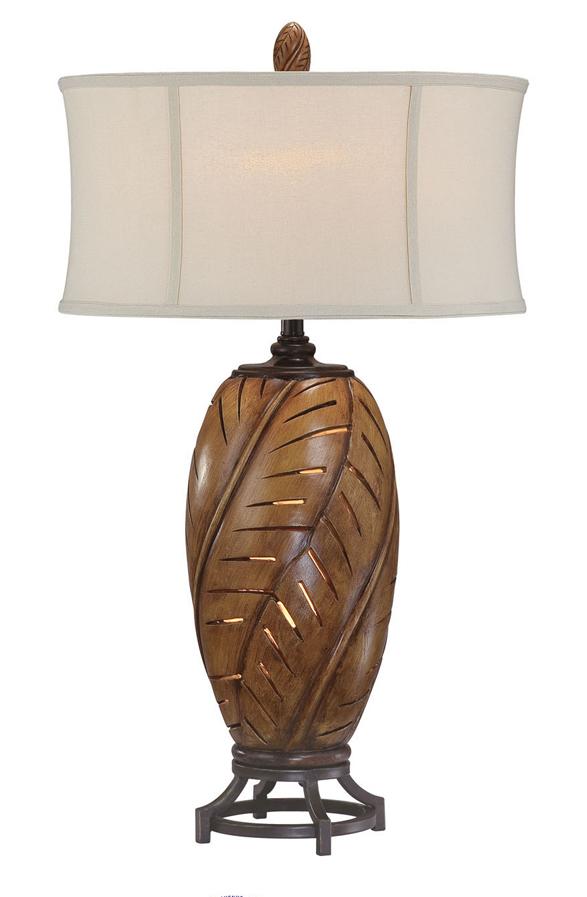 banana leaf night light table lamp. Black Bedroom Furniture Sets. Home Design Ideas