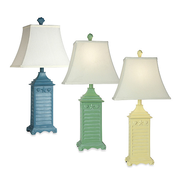 Beach House Blue Table Lamp Each Color Sold Separately