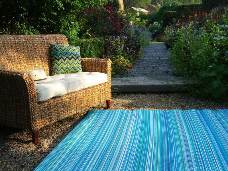 Cancun Turquoise Amp Moss Green Indoor Outdoor Rug