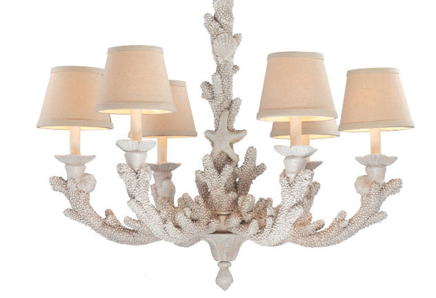 C Coastal Chandelier Decorated With