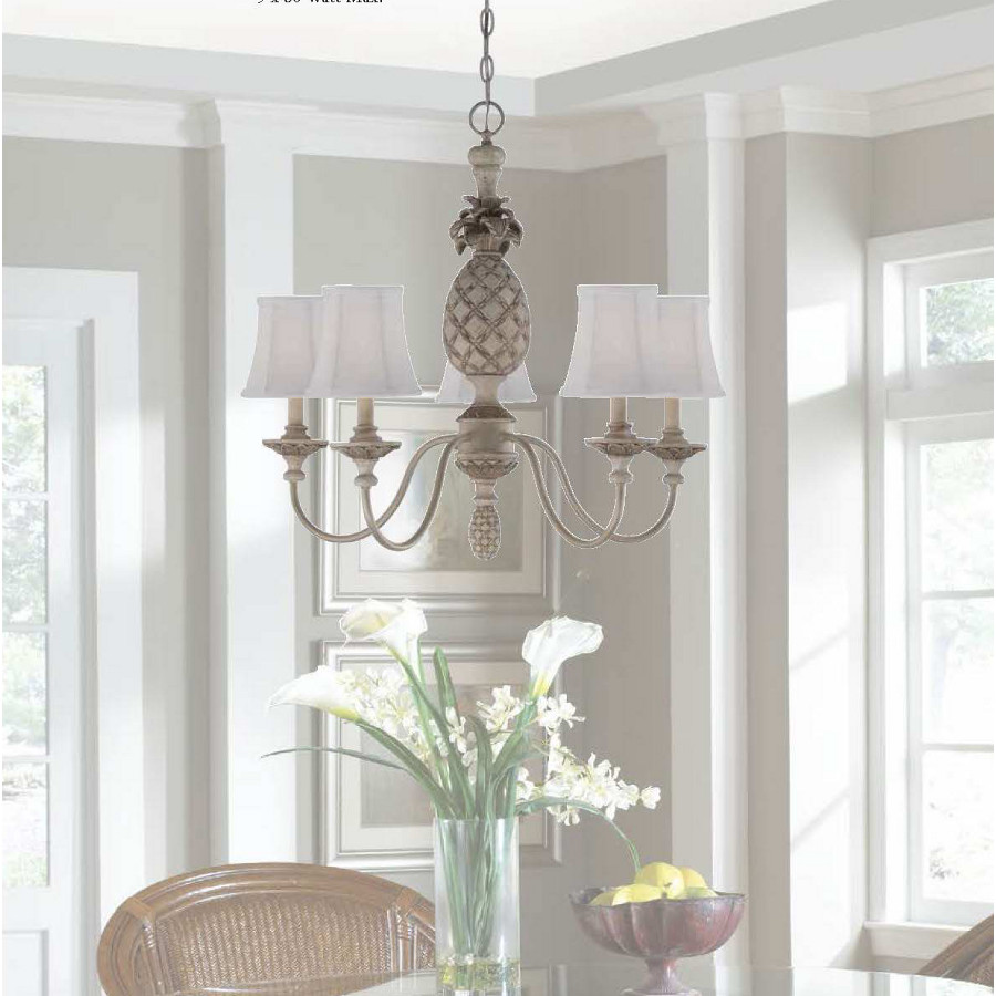Pineapple Chandelier In Cottage White