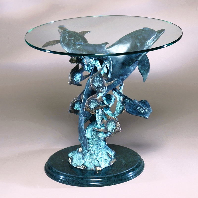 dolphin seaworld side table