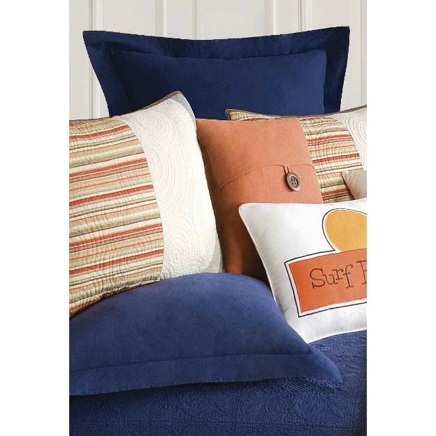 endless summer navy blue euro sham. Black Bedroom Furniture Sets. Home Design Ideas