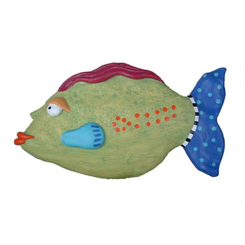Wall Decor With Fish : Gloria painted fish wall decor