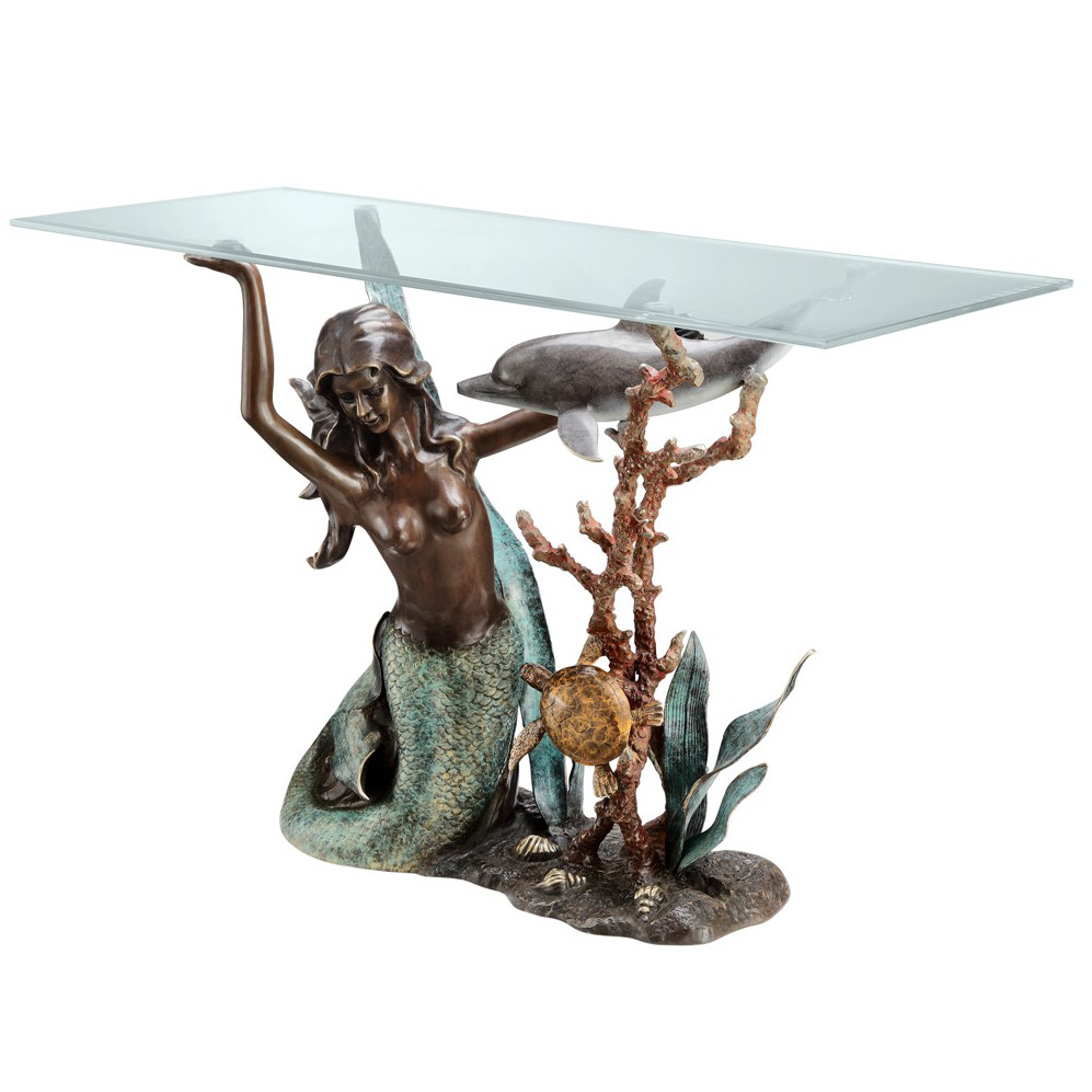 Mermaid console table Mermaid coffee table