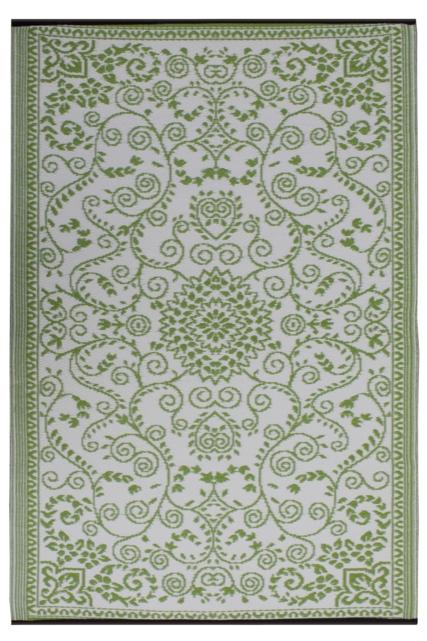 Muranolime green cream rug for Green and cream rugs