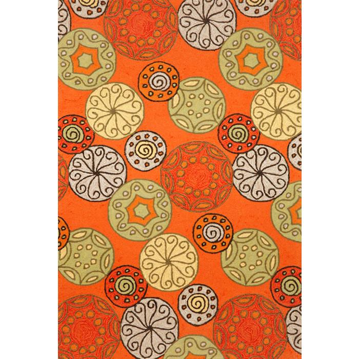 Fun Orange Indoor Outdoor Rug