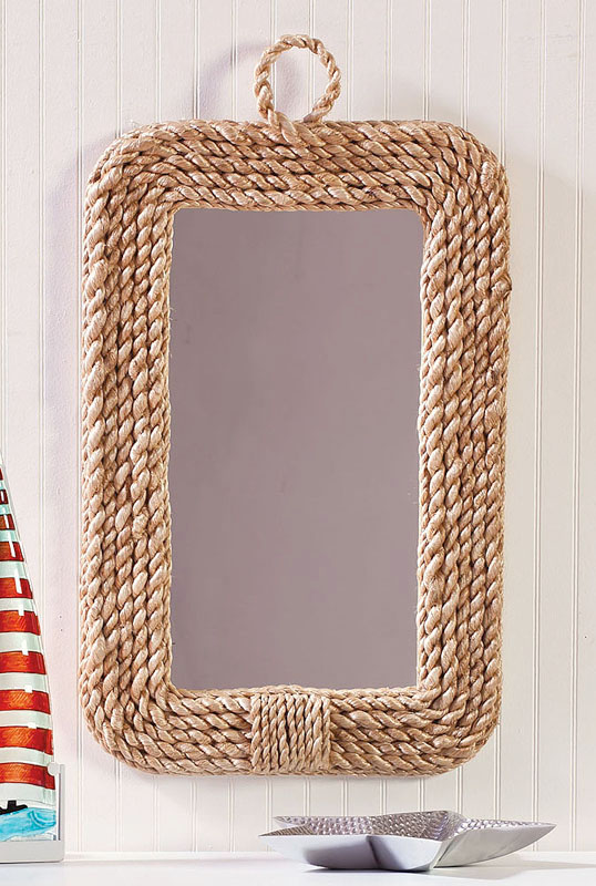 Rope frame wall mirror Rope photo frame
