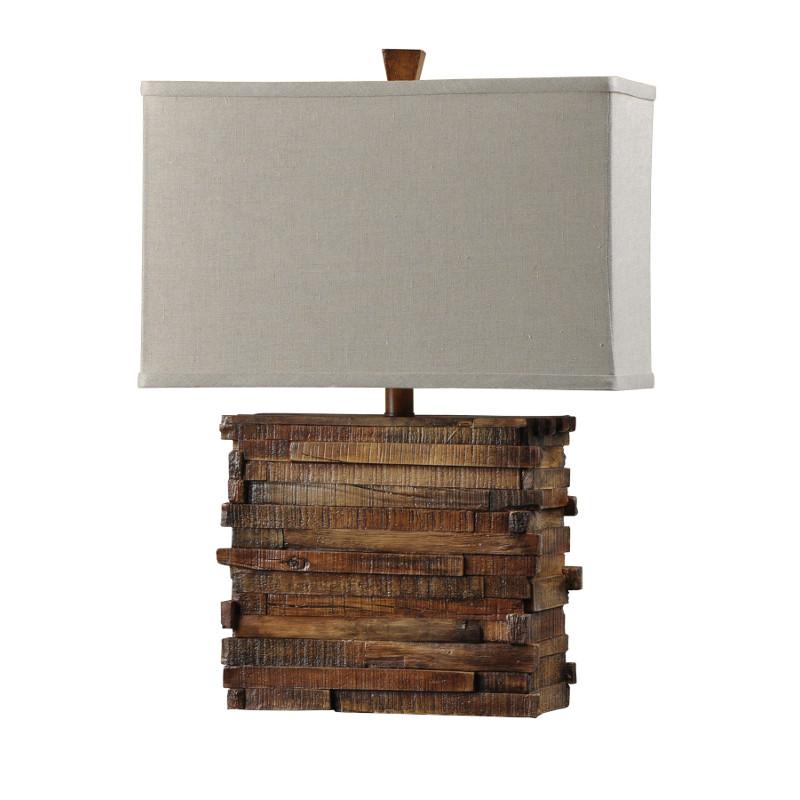 Rustic Restoration Wood Look Table Lamp