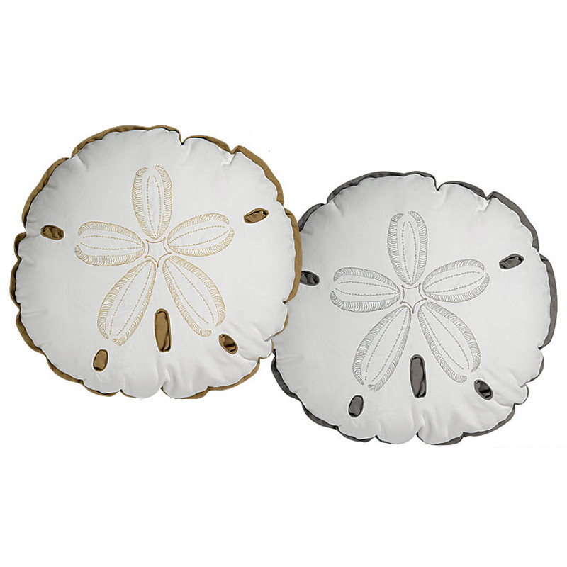 Sand Dollar Shaped Indoor Outdoor Pillow Sand Dollar Shaped Indoor Outdoor  Pillow