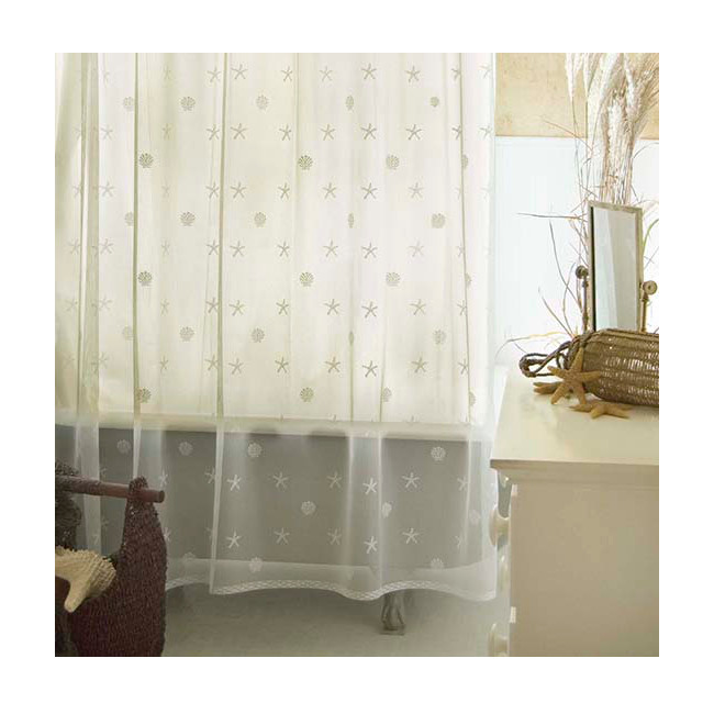Sand Shell Shower Curtain Ecru White