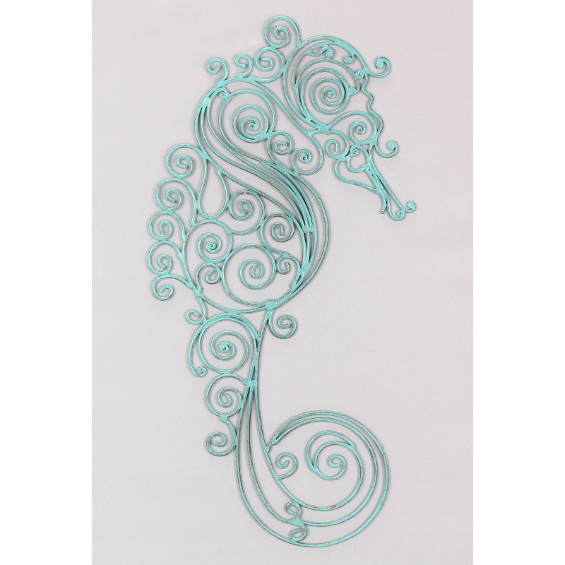 seahorse metal wall art. Black Bedroom Furniture Sets. Home Design Ideas