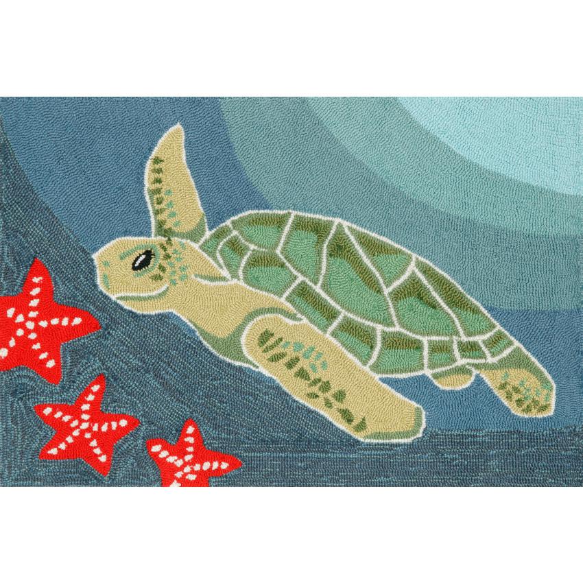 Sea Turtle Indoor/ Outdoor Rug