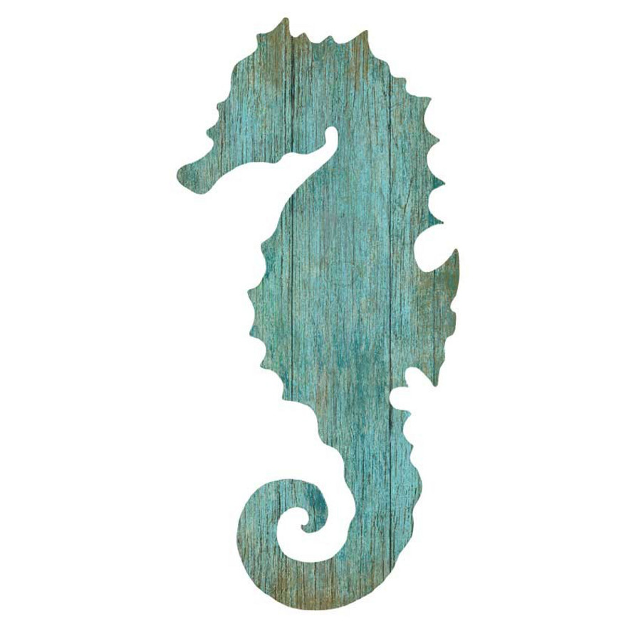 seahorse silhouette facing left wall art aqua beach d cor shop. Black Bedroom Furniture Sets. Home Design Ideas