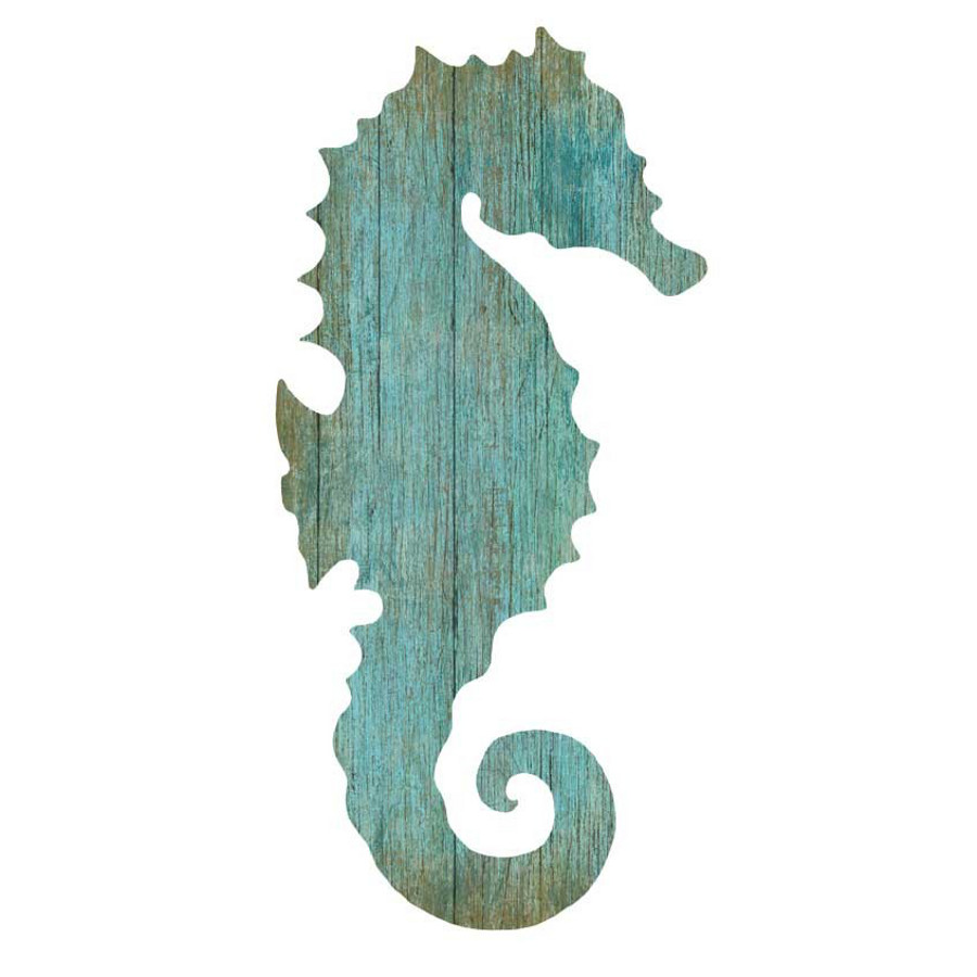 Seahorse Wall Art seahorse silhouette facing right wall art - aqua - beach décor shop