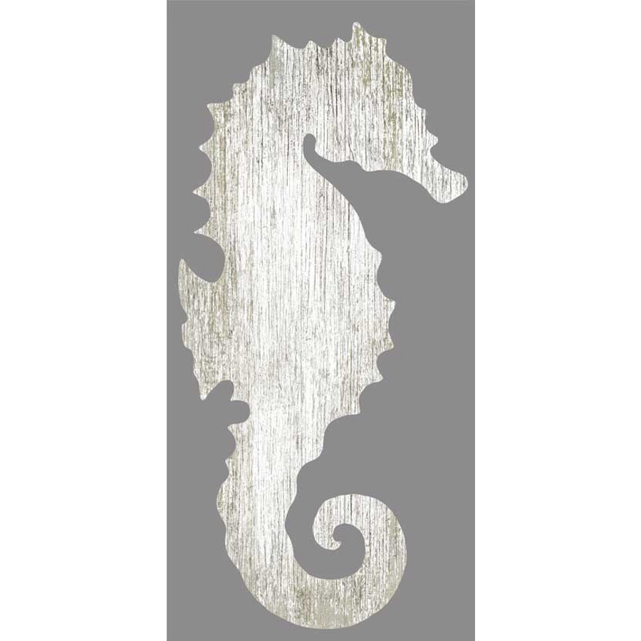 Seahorse Wall Art seahorse silhouette facing right wall art - white - beach décor shop