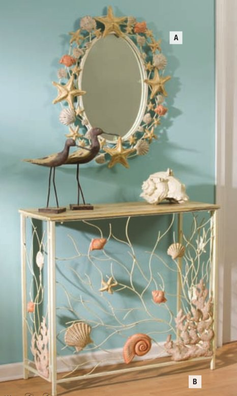 shell metal mirror 14394