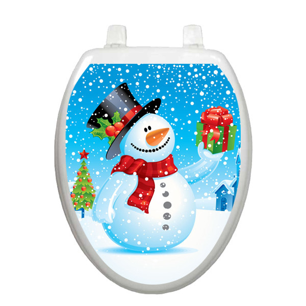 snowman toilet seat decoration. Black Bedroom Furniture Sets. Home Design Ideas