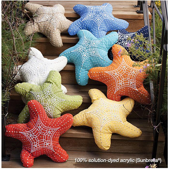 Starfish Shaped Indoor Outdoor Pillow