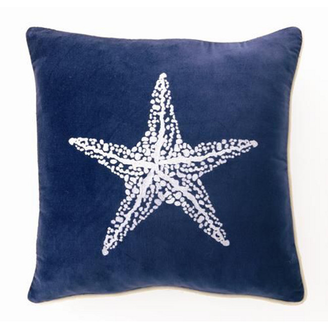 Starfish Velvet Pillow