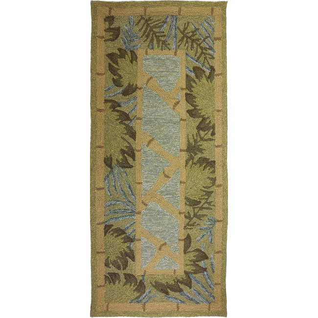 Bamboo Rug Runner: Tropical Palms & Bamboo Rug