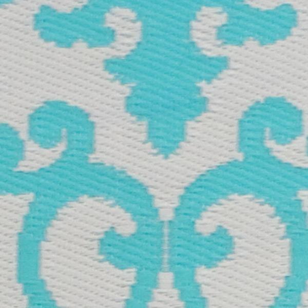 Florida Gray Turquoise Area Rug: Venice Cream & Turquoise Indoor/ Outdoor Rug