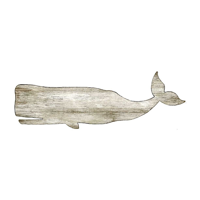 Whale Silhouette Wall Art White